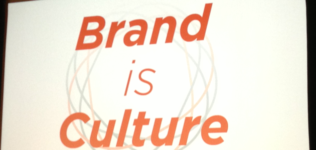 Slide of Brand is Culture